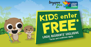 Featured image for Kids Enter Free to Singapore Zoo and Jurong Bird Park with every paying adult from 1 – 31 Oct 2019