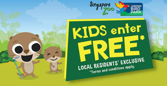 Featured image for Kids Enter Free to Singapore Zoo and Jurong Bird Park with every paying adult from 1 - 31 Oct 2019