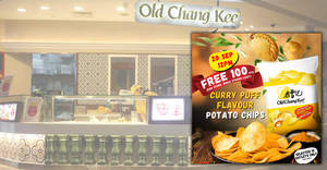 Old Chang Kee is giving away free Curry Puff Flavour Potato Chips at 10 selected outlets on 20th Sept 2019