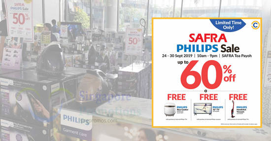 Featured image for Philips products are going at up to 60% off at SAFRA Toa Payoh till 30 Sept 2019