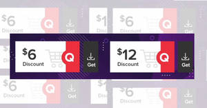 Featured image for Qoo10: Grab free $6 and $12 cart coupons valid till 1 October 2019