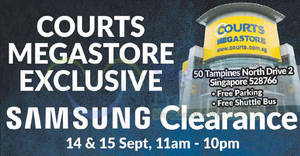 Samsung Clearance Sale Has Discounts of Up To 80% off (14 – 15 September 2019)