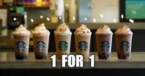 Starbucks: Enjoy 1 FOR 1 Vanilla Fig Latte or Chocolate Black Tea with Coffee Spheres or Earl Grey Jelly from 16 – 19 Sept 2019
