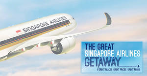 The Great Singapore Airlines Getaway sale is ON! Enjoy fares from S$148 to over 75 destinations – book by 30 Sep 2019