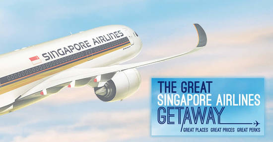 Featured image for The Great Singapore Airlines Getaway sale is ON! Enjoy fares from S$148 to over 75 destinations - book by 30 Sep 2019