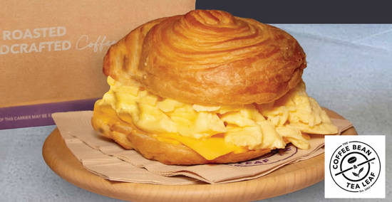 Featured image for Coffee Bean & Tea Leaf's all-new Scrambled Eggs and Cheese Croissant from 7 October 2019