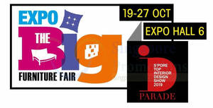 EXPO Big Furniture Fair from 19 – 27 Oct 2019