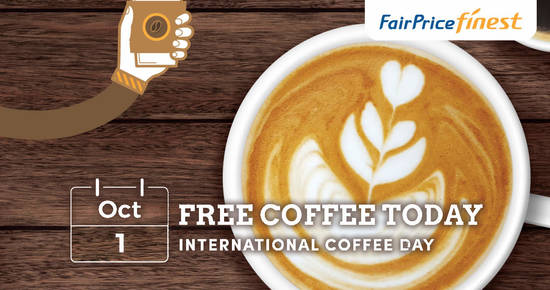 Featured image for Free premium coffee at all FairPrice Finest stores on 1 October 2019