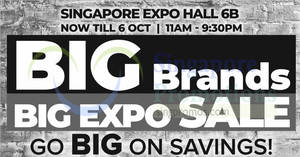 Featured image for Harvey Norman Big Brands, Big EXPO Sale from 4 – 6 Oct 2019