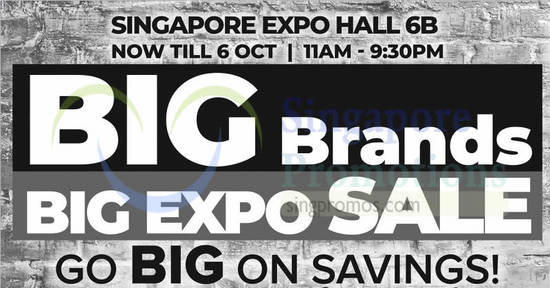 Featured image for Harvey Norman Big Brands, Big EXPO Sale from 4 - 6 Oct 2019