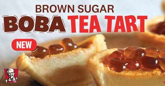 Featured image for KFC Brown Sugar Boba Tea Tart now available from 10 October 2019