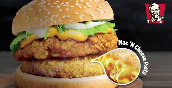 Featured image for KFC launches new Mac 'N Cheese Original Recipe Burger from 2 Oct 2019
