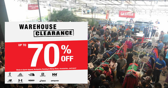 Featured image for Outdoor Venture warehouse sale to return with discounts of up to 70% off from 31 Oct - 3 Nov 2019