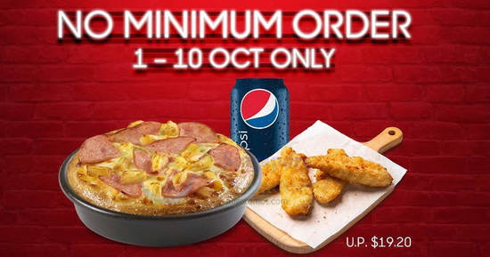 Featured image for Pizza Hut Delivery is offering a $10 Flash Deal with no min spend required! Valid till 10 October 2019