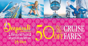 Featured image for Royal Caribbean to offer 50% Off cruise fares in its Deepavali Festive Sale from 25 October 2019