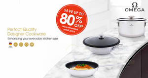 Spend & redeem exclusive Omega kitchenware collection with Fairprice's latest loyalty programme till 15 January 2020