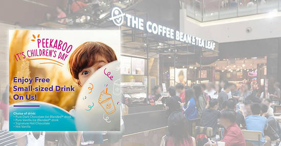 Featured image for Free drinks for kids at most The Coffee Bean & Tea Leaf® outlets in celebration of Children's Day on 4 October 2019