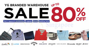 YG Branded Warehouse Sale from 17 – 28 Oct 2019