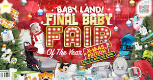 Baby Land Fair at Singapore Expo from 22 – 24 Nov 2019