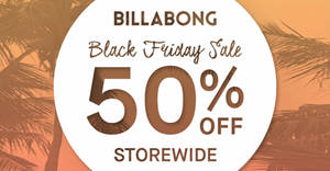 Featured image for Billabong 50% off storewide Black Friday sale from 28 Nov 2019