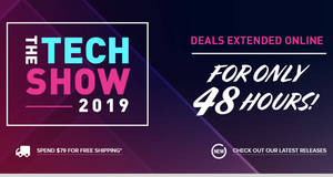 Creative e-store has extended their up to 65% off Tech Show 2019 deals till 19 November 2019