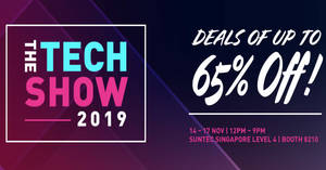 Creative e-store is having a Tech Show 2019 deals of up to 65% off from 14 – 17 November 2019
