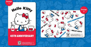 Featured image for EZ-Link releases new Hello Kitty 45th Anniversary ez-link cards from 8 November 2019