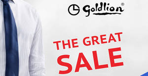 Goldlion up to 90% off sale at Singapore Expo from 22 – 24 November 2019