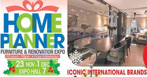Featured image for Home Planner furnishing show at Singapore Expo from 23 Nov – 1 Dec 2019