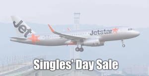 Jetstar's Singles' Day Sale features promo sale fares fr $57^ all-in to Bali, Taipei, Phuket, KL and more! Book by 18 Nov 2019