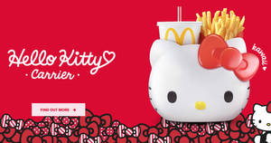 McDonald's S'pore launching new Hello Kitty carrier globally first here from 14 Nov 2019