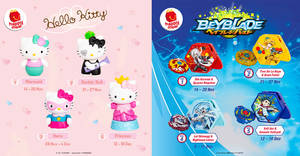 McDonald's latest Happy Meal toys features Hello Kitty and Beyblade! From 14 Nov – 18 Dec 2019