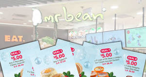 Mr Bean releases eight SOY-awesome $5 deals valid at most outlets till 20 December 2019