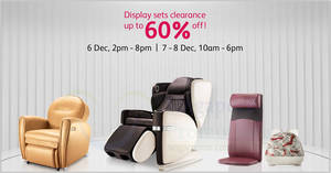 OSIM up to 60% off warehouse sale from 6 – 8 Dec 2019