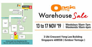 Oasis Living bedlinen warehouse sale up to 80% discount from 13 – 17 Nov 2019