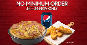 Pizza Hut Delivery is offering a $10 Flash Deal with no min spend required! Valid till 24 November 2019