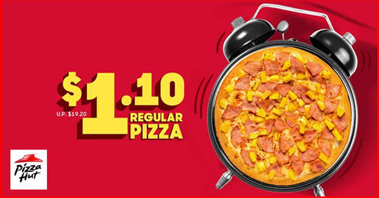 Featured image for Pizza Hut Delivery: Enjoy any regular pizza for just $1.10 (U.P. $19.20) with this code valid till 11 November 2019