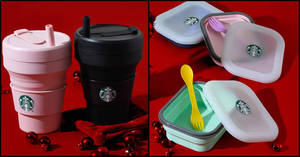 Featured image for Starbucks' upcoming Gift of the Week features collapsible cups and lunch box sets (From 2 Dec 2019)