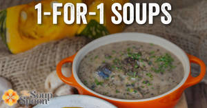 The Soup Spoon will be offering 1-for-1 à la carte soups (Regular and Large only) at all outlets on 11 Nov 2019 (2 – 5pm)
