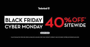 Featured image for Timberland 40% off sitewide online Black Friday x Cyber Monday weekend sale till 2 December 2019