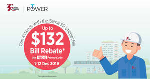 Featured image for Tuas Power: Electricity Plan @ 17.98cents plus $132 Bill Rebate*! From 1 – 12 Dec 2019