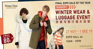 Featured image for Winter Time sale is back at Singapore Expo from 27 Nov – 1 Dec 2019