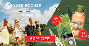 Featured image for Yves Rocher: Biggest Sale of the Year – 11.11 50% Off storewide from 9 – 11 Nov 2019