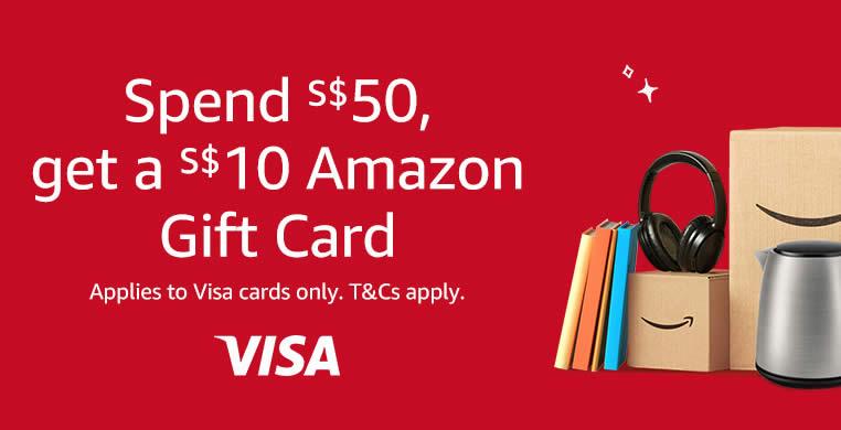 Amazon Sg Spend 50 Get A 10 Amazon Gift Card When You Pay Via