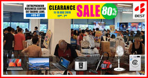 BEST Denki clearance sale returns with discounts of up to 80% off from 11 – 15 December 2019