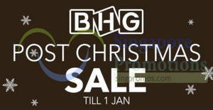 Featured image for BHG Post Christmas Sale till 1 January 2020