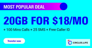 Circles.Life: 12.12 offer – 20GB for $18/mo for 12 months + Extra $50 OFF any phone for StarHub & Singtel customers till 31 Dec 2019