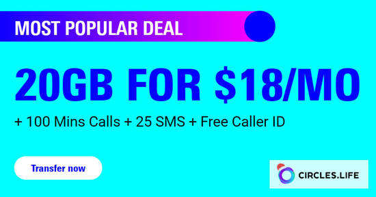 Featured image for Circles.Life: 12.12 offer - 20GB for $18/mo for 12 months + Extra $50 OFF any phone for StarHub & Singtel customers till 31 Dec 2019
