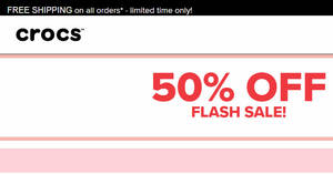 Crocs: 50% OFF flash sale on selected items till 13 December 2019
