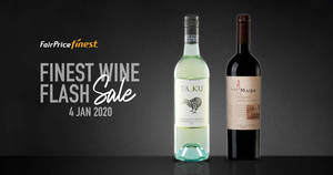 Featured image for FairPrice Finest Monthly Wine Flash Sale on 4th Jan 2020